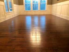 wood floor refinishing before